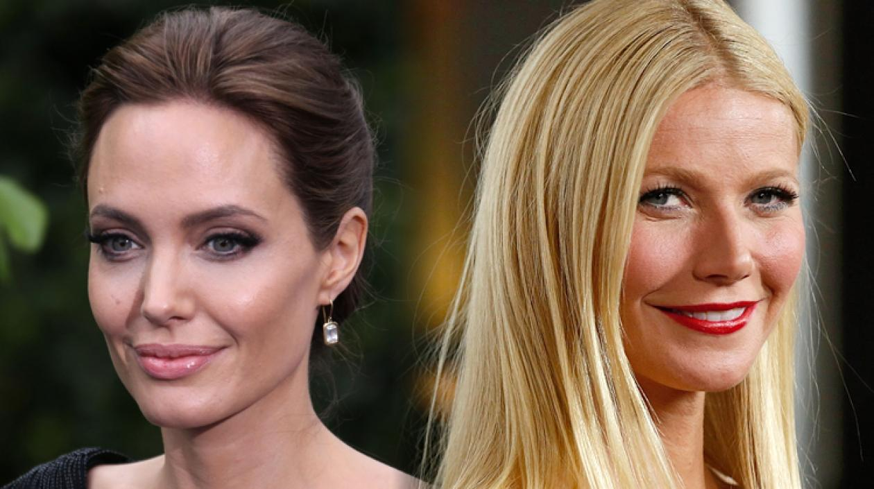 Las actrices Angelina Jolie y Gwyneth Paltrow.