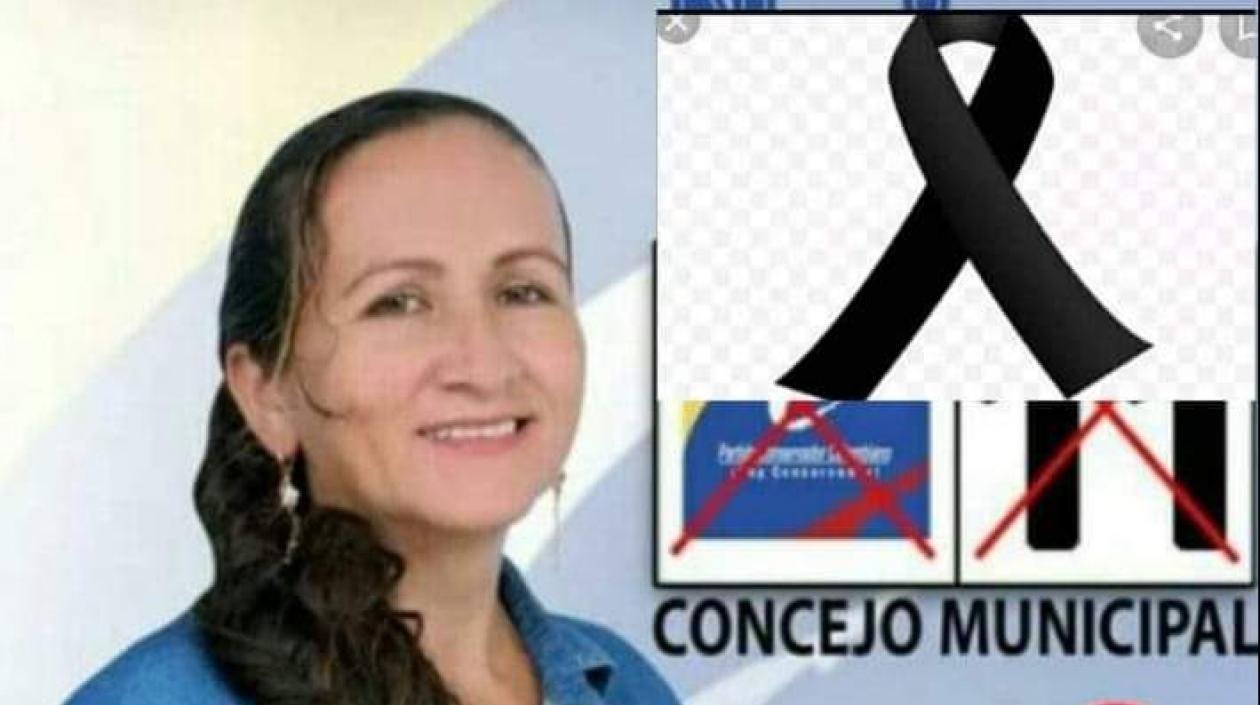 Eneriet Penna, concejal asesinada.
