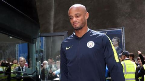 El defensa belga Vincent Kompany.