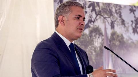 Iván Duque en la Universidad Internacional de Florida (FIU),