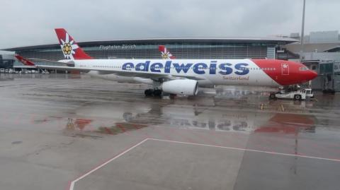 Edelweiss Airlines hará el vuelo chárter.